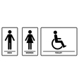 WC Signs Black Silhouettes vector image vector image