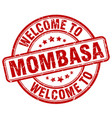 welcome to mombasa vector image vector image