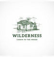 wilderness abstract sign symbol or logo vector image vector image
