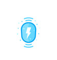 wireless charging station icon vector image