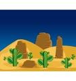 Cactuses in desert vector image