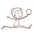 A simple sketch of a gymnast vector image