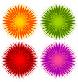 abstract geometric flower shapes elements set of vector image