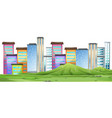 an urban city scene vector image