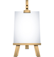 art easel vector image vector image