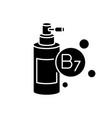 b7 biotin in liquid form black glyph icon vector image vector image
