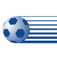 ball soccer symbol vector image vector image