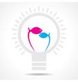 Blue and pink fish make filament of a bulb vector image vector image