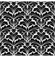 Bold black and white damask floral seamless vector image