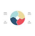 Business infographics pie chart with 4 parts