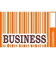 Business word build in bar code vector image