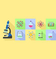 chemistry science icon set flat style vector image vector image