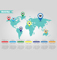 colorful modern infographic world map vector image vector image