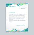 creative abstract shapes letterhead design vector image vector image