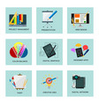 creativity icons imagination vector image vector image