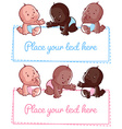 Cute little baby on a white background vector image vector image