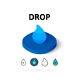 Drop icon in different style vector image vector image