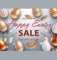 easter sale banner design with rose gold ornate vector image vector image