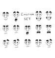 Facial Avatar Emotions Icons Set vector image