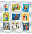 family portrait set marriage birthday holiday vector image vector image