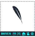 Feather icon flat vector image