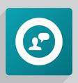 flat conversation icon vector image vector image