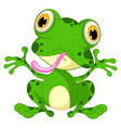 funny frog cartoon sitting vector image vector image