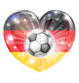 german soccer heart flag vector image