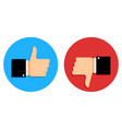 good and bad signs set social media vector image