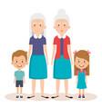 grandparents group with grandchildren avatars vector image