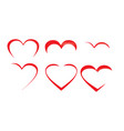 heart art collection vector image vector image