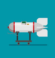 icon in flat style design rocket bomb vector image