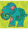 Indian elephant with pattern and texture vector image
