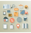 Interface elements for internet ecommerce vector image vector image