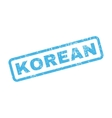 Korean Rubber Stamp vector image