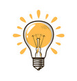 lightbulb bulb electricity electric light vector image