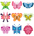 logo icons butterfly vector image