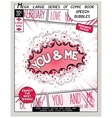 Love series pop art speech bubble vector image