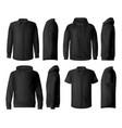 man clothes shirt and hoodie mockups vector image