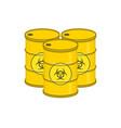 metal barrel with biohazard vector image