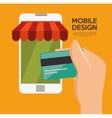 mobile design shop store virtual technology vector image