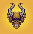 monster horn monkey vector image vector image
