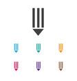 of bureau symbol on pen icon vector image vector image