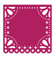 papel picado cutout template design mexico vector image vector image