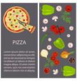 pizza restaurant menu vector image vector image