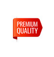 red banner left bookmark premium quality vector image vector image