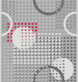 rings and circles an abstract geometry vector image vector image