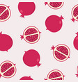 seamless pomegranate background vector image vector image