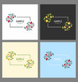 set cards with floral frames wedding ornament vector image vector image