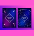 set creative music posters vector image